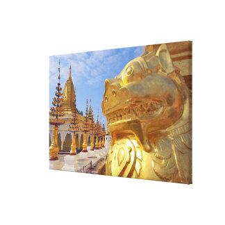 Asia, Myanmar (Birmania), Bagan (Pagan). El Shwe 4 Impresión En Lona Estirada