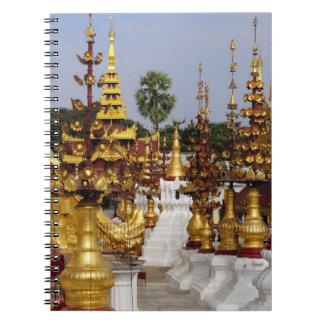 Asia, Myanmar (Birmania), Bagan (Pagan). El Shwe 5 Libretas Espirales