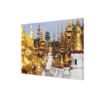 Asia, Myanmar (Birmania), Bagan (Pagan). El Shwe 5 Lienzo Envuelto Para Galerías
