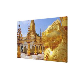 Asia, Myanmar (Birmania), Bagan (Pagan). El Shwe 6 Impresion De Lienzo