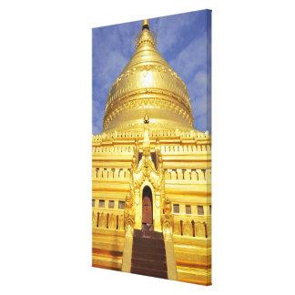 Asia, Myanmar (Birmania), Bagan (Pagan). El Shwe Impresión En Lienzo Estirada
