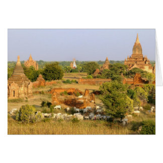 Asia, Myanmar (Birmania), Bagan (Pagan). Paso de l Tarjeta De Felicitación