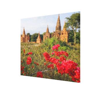 Asia, Myanmar (Birmania), Bagan (Pagan). Un Bagan Impresiones De Lienzo
