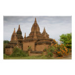 Asia, Myanmar Birmania), Pagan de Bagan). Diverso Póster