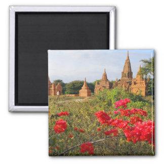 Asia, Myanmar (Burma), Bagan (Pagan). A Bagan 2 Inch Square Magnet