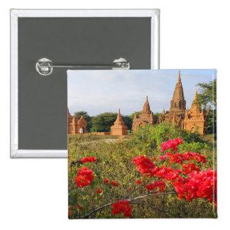 Asia, Myanmar (Burma), Bagan (Pagan). A Bagan 2 Inch Square Button
