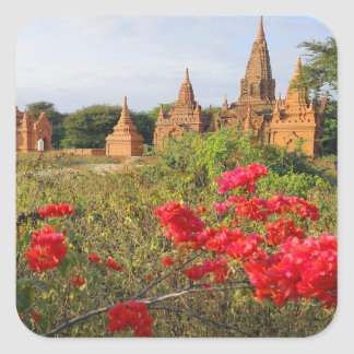 Asia, Myanmar (Burma), Bagan (Pagan). A Bagan Square Sticker