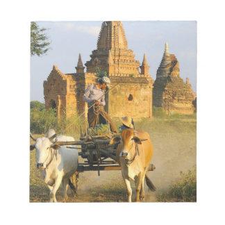 Asia, Myanmar (Burma), Bagan (Pagan). A cart is Notepad