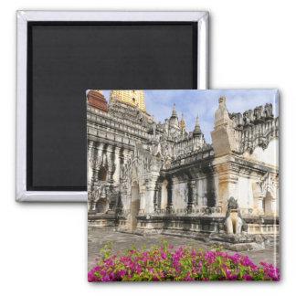 Asia, Myanmar (Burma), Bagan (Pagan). The Ananda 2 Inch Square Magnet