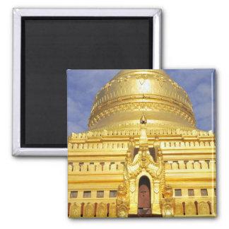 Asia, Myanmar (Burma), Bagan (Pagan). The Shwe 2 Inch Square Magnet