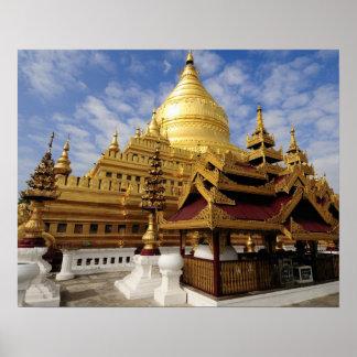 Asia, Myanmar (Burma), Bagan (Pagan). The Shwe 2 Poster