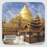 Asia, Myanmar (Burma), Bagan (Pagan). The Shwe 2 Square Sticker
