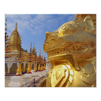 Asia, Myanmar (Burma), Bagan (Pagan). The Shwe 4 Poster