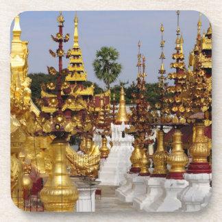 Asia, Myanmar (Burma), Bagan (Pagan). The Shwe 5 Beverage Coaster