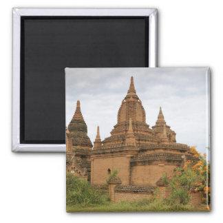 Asia, Myanmar Burma), Bagan Pagan). Various 2 Inch Square Magnet