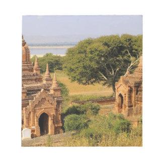 Asia, Myanmar (Burma), Bagan (Pagan). Various 2 Notepad