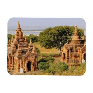 Asia, Myanmar (Burma), Bagan (Pagan). Various 2 Rectangular Photo Magnet