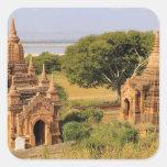 Asia, Myanmar (Burma), Bagan (Pagan). Various 2 Square Stickers