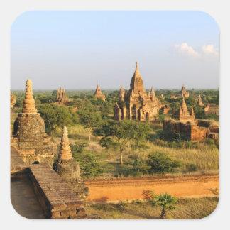 Asia, Myanmar (Burma), Bagan (Pagan). Various Square Sticker