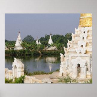 Asia, Myanmar (Burma), Mandalay. A buddhist Poster