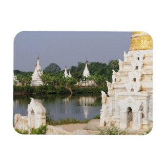Asia, Myanmar (Burma), Mandalay. A buddhist Rectangular Photo Magnet