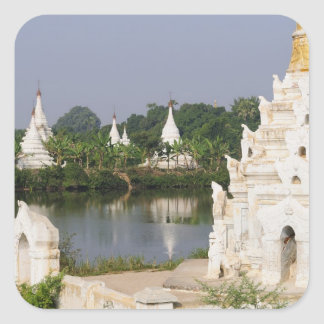 Asia, Myanmar (Burma), Mandalay. A buddhist Square Sticker
