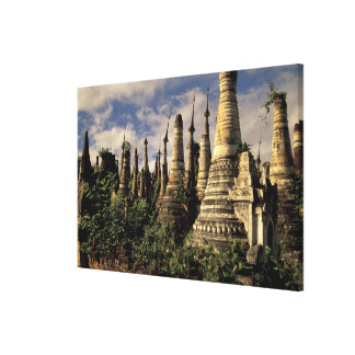Asia Myanmar Inle Lake Ancient ruins of Canvas Prints