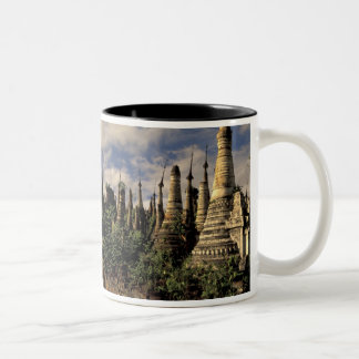 Asia, Myanmar, Inle Lake. Ancient ruins of Two-Tone Coffee Mug