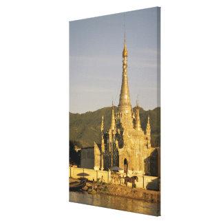 Asia, Myanmar, Inle Lake. Pagodas. 2 Canvas Print