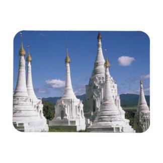 Asia, Myanmar, Inle Lake. Pagodas. 2 Magnet