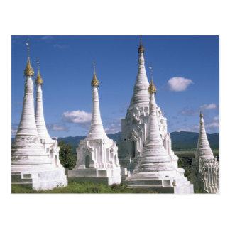 Asia, Myanmar, Inle Lake. Pagodas. 2 Postcard