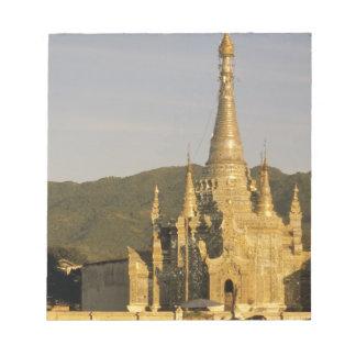 Asia, Myanmar, Inle Lake. Pagodas. Notepad