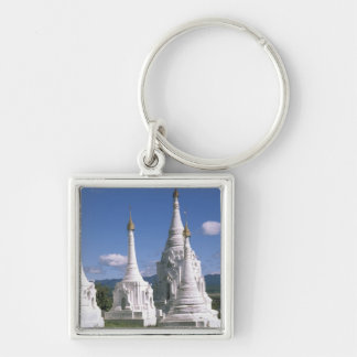 Asia, Myanmar, lago Inle. Pagodas. 2 Llavero Personalizado