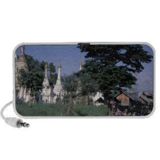 Asia, Myanmar, lago Inle. Un mercado flotante iPod Altavoces