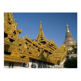 Asia, Myanmar, Yangon. Golden stupa of Shwedagon 2 Postcard