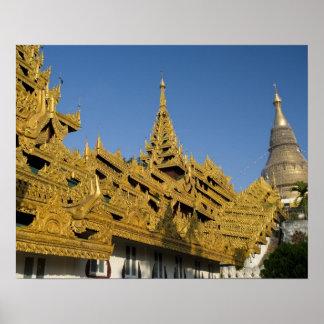 Asia, Myanmar, Yangon. Golden stupa of Shwedagon 2 Poster