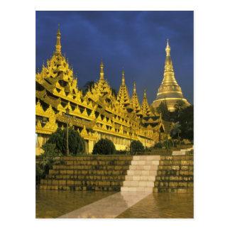 Asia, Myanmar, Yangon. Shwedagon Pagoda at Post Cards