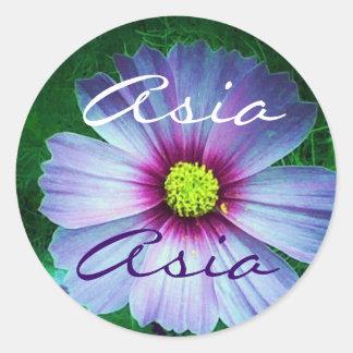 Asia name sticker