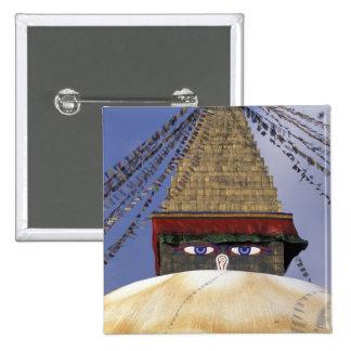 Asia, Nepal, Kathmandu. Bouddhanath Stupa. 2 Button