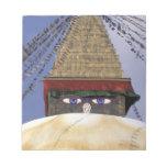 Asia, Nepal, Kathmandu. Bouddhanath Stupa. 2 Notepads