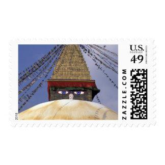 Asia, Nepal, Kathmandu. Bouddhanath Stupa. 2 Postage
