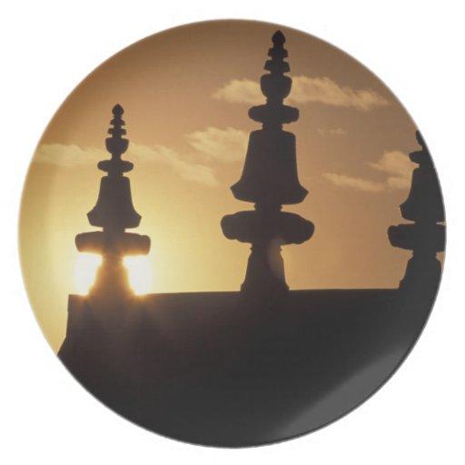 Asia, Nepal, Kathmandu. Bouddhanath Stupa. Plate