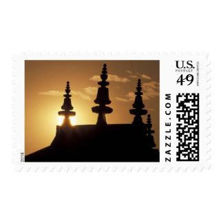 Asia, Nepal, Kathmandu. Bouddhanath Stupa. Postage