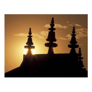 Asia, Nepal, Katmandu. Bouddhanath Stupa. Tarjeta Postal