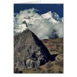 Asia, Nepal, Sagarmatha NP. Un rezo budista Tarjeta De Felicitación