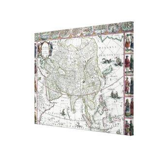 Asia noviter delineata, 1617 gallery wrap canvas