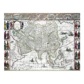 Asia noviter delineata, 1617 postcard