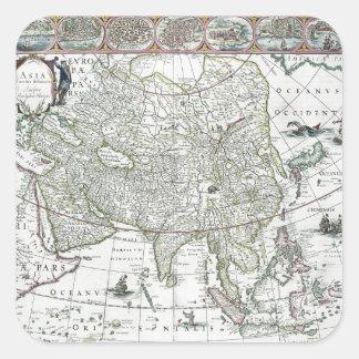 Asia noviter delineata, 1617 square sticker