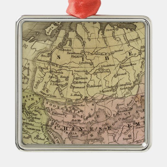 Asia Olney Map Metal Ornament
