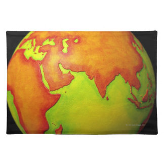 Asia on a Globe Cloth Placemat
